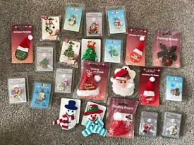 Assorted Christmas Badges