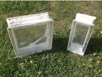 retro vintage Glass brieze blocks bricks