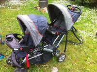 Sit n stand double stroller