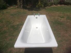 Metal Enamel White Bath