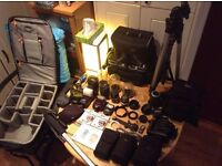 Nikon D80 + ALL Accessories (Lenses, Flash, Camera Backpack, Camera Bags Tripods, Monopods and more!