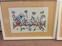 Fabulous framed pictures for a child's room.