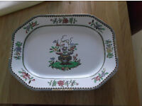 Art Deco Copeland 'Old Bow' serving platter, marked 1931 Harrods. Great for Xmas dinner