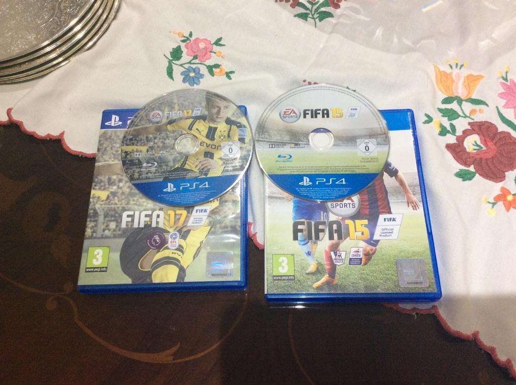 Collection only PS4 FIFA 17 and FIFA 15 and battlefront