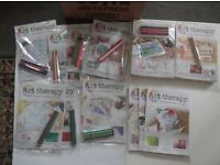 Art therapy Colouring partworks ( 69 different , mostly unopened )