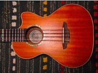 Luna 8 string electro ukulele and bag