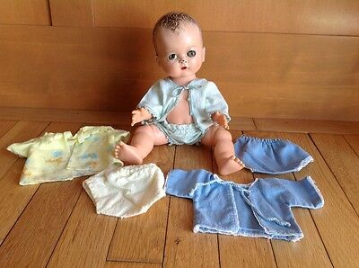 VINTAGE IDEAL BETSY WETSY DOLL TLC 12 INCH MOLDED HAIR W/ CLOTHING