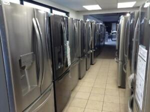 BRAND NEW STAINLESS FRIDGES- UNBOXED- OPEN MON-SAT 10AM-6PM - 16665 111 AVE - 1 YEAR WARRANTY