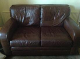 Top quality 2/3 seater soft leather sofa.