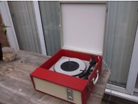 1960S FIDELITY RED VALVE AUTOMATIC RECORD PLAYER ROCK N ROLL MOD SOUL VINYL RECORDS