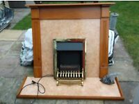 Focal Point Electric Fire and Suround