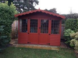 Summer house and fittings.