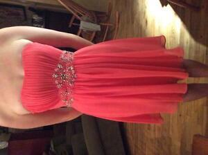 Gorgeous Coral Grad Dress