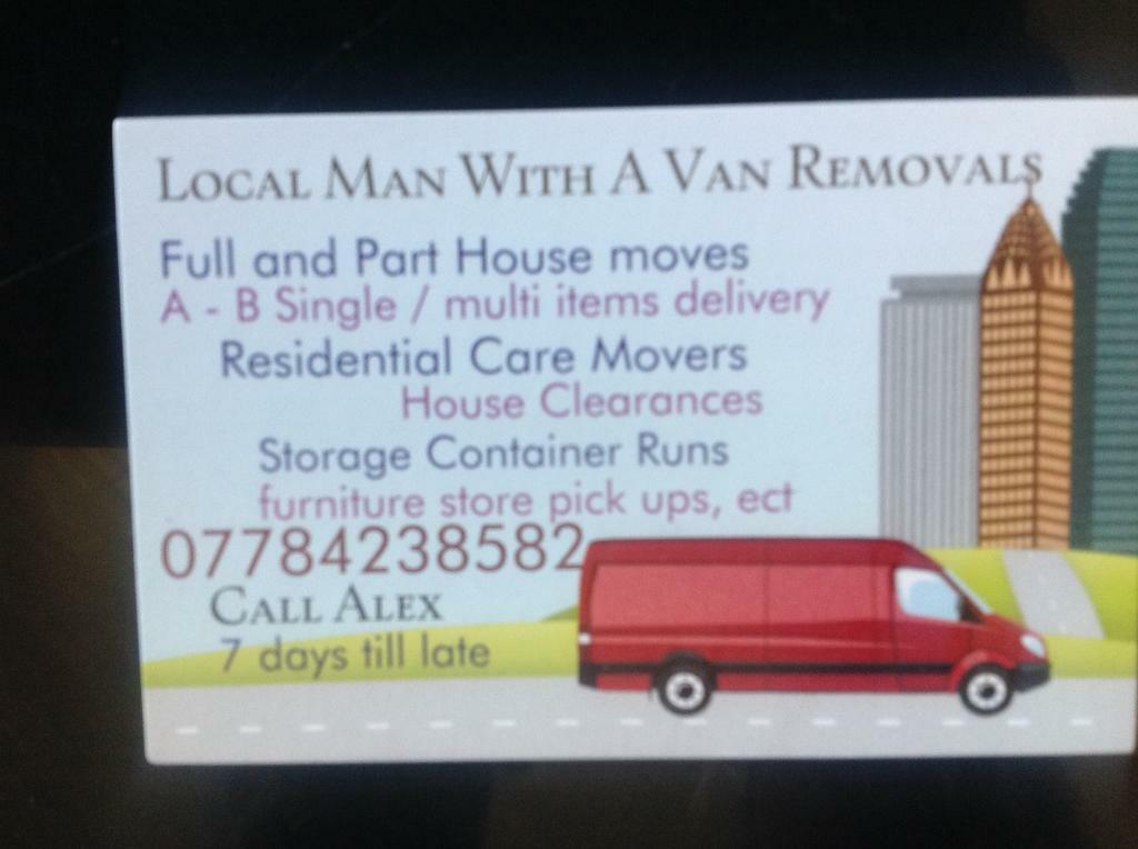 Man With A Van Removals Furniture Deliverys Furniture Tip Runs