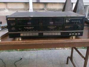 Double Cassette Deck Player