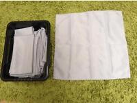"40, 20""x20"" Grey polyester napkins"