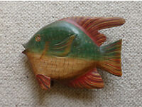 South American Handpainted Wooden Fish
