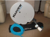 Maxview Precision Portable TV Satellite Dish Kit