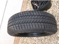 205 x 55 x 16 brand new goodyear tyre,on brand new v w 5 stud steel wheel , both brand new unused