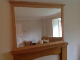 Morris Light Oak mirror