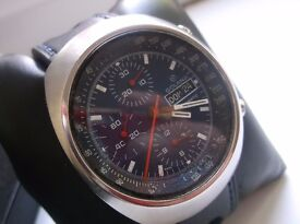 vintage mens chunky 3 register chronograph automatic watch valjoux 7750