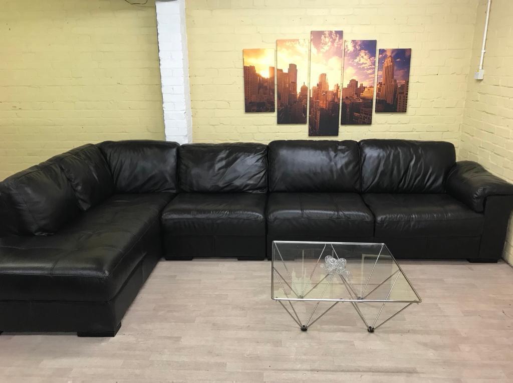 extra long dark brown leather corner sofa in harrow london gumtree
