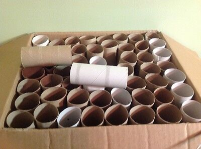 Lot of 50 Empty Clean Cardboard Toilet Paper Rolls for Crafts, School & Projects