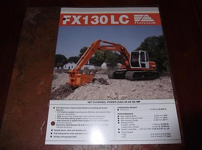 Fiat-allis Fx130lc Excavator Sales Brochure Fx 130 Lc