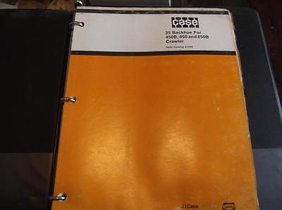 Case 35 Backhoe Parts Catalog Manual For 450b 850 850b Crawlers