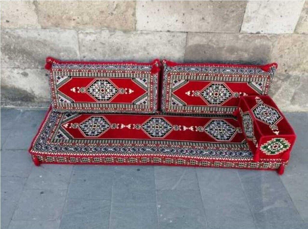 4 pcs Turkish Ottoman Cushion pillows Lounge Couch Sofa Corner Cover Set Palace 1