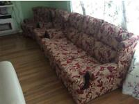3 piece sofa couch. 1x3 seater and 2x1 seater