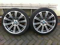 """BMW 19"""" staggered alloys E92 M3 Style 5x120 Great Tyres"""