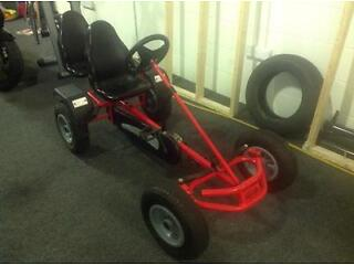 RED PEDAL GO-KART RIDE-ON CAR 2 SEATER