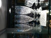 Lead Crystal Champagne Flutes Qty 12
