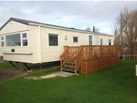 Static caravan for hire at bunn leisure caravan park