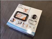 VTECH SAFE & SOUND PAN & TILT VIDEO BABY MONITOR VM343, BRAND NEW IN BOX