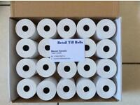 20 Rolls x 1 Box=20 Rolls Just Eat, Hungry House, Credit Card, Pay Zone, Machine Rolls 57x50 mm