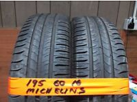 4 of 195 60 16 MICHELINS 6MM TREAD £25 EACH SUPP & FITTED & 4 of 205 60 16 TOYO PROXES (more av