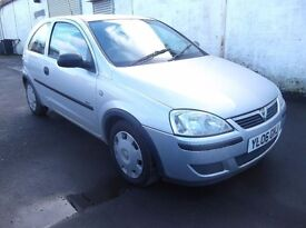 vauxhall corsa 973cc silver 06 plate 375 no offers