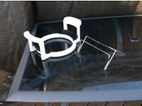 Halogen Oven Lid Stand Holder + glass bowl stand