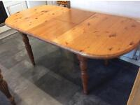 Solid Pine 6/4 seater farmhouse dining table extending size ideal project at a bargain price