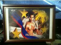 Signed framed manny pacquiao picture