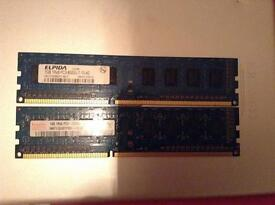 2gb (1gbx2) RAM kit CHEAP DDR3 MEMORY