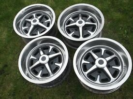 Classic ford 5.5j x 13 deep set chrome rostyle wheels capri cortina escort corsair anglia