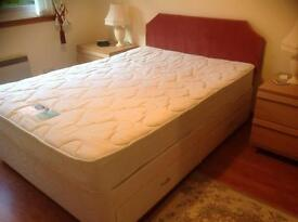 Double divan bed with silent night miracoil mattress