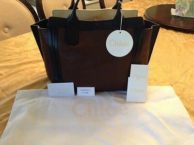 Chloe Alison Tote Bag, Color Brown Leather
