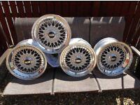 Completely Refurbished BBS RS012 & 013 Porsche 7x16 & 8x16 Split Rims. VW / Audi / Ford / Vauxhall..