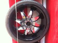 Almost brand new rims with brand new tires