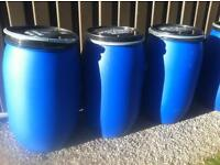 Sealed Water butts 210 litres (storage containers) (motor cross)