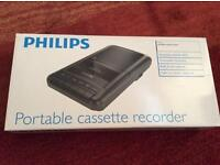 Phillips cassette recorder/player brand new boxed